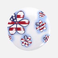 "USA Flowers (sc) 3.5"" Button"