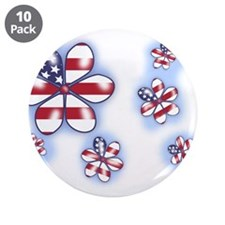 """USA Flowers (sc) 3.5"""" Button (10 pack)"""