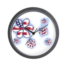 USA Flowers (sc) Wall Clock
