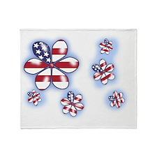 USA Flowers (sc) Throw Blanket
