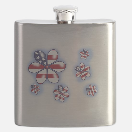 USA Flowers (sc) Flask