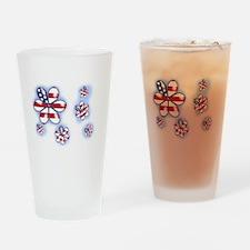 USA Flowers (sc) Drinking Glass