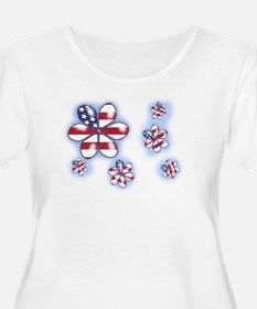 USA Flowers (sc) Plus Size T-Shirt