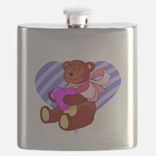 Cute Valentines Bear Flask