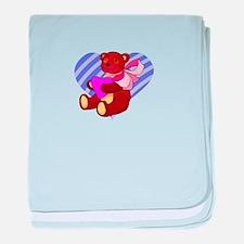 Cute Valentines Bear baby blanket
