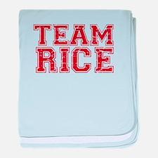 Team Rice baby blanket
