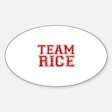 Team Rice Sticker (Oval)