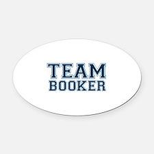 Team Booker Oval Car Magnet