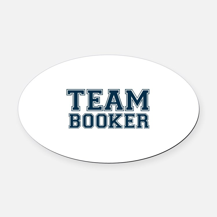 Team Booker Oval Car Magnet