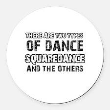 Squaredance designs Round Car Magnet
