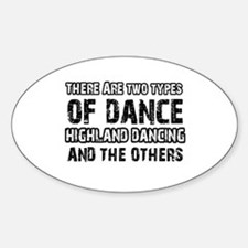 Highland Dancing designs Sticker (Oval)