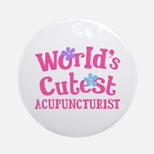 World's Cutest Acupuncturist Ornament (Round)