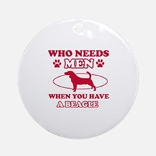 Beagle mommy designs Ornament (Round)