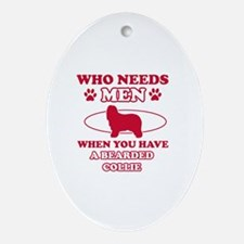Bearded Collie mommy designs Ornament (Oval)