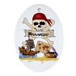 Pirate Day Icons Ornament (Oval)