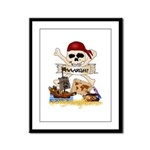 Pirate Day Icons Framed Panel Print
