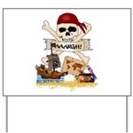 Pirate Day Icons Yard Sign
