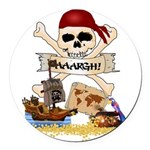 Pirate Day Icons Round Car Magnet