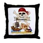 Pirate Day Icons Throw Pillow
