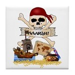 Pirate Day Icons Tile Coaster