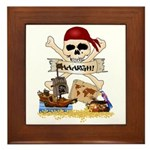 Pirate Day Icons Framed Tile