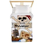 Pirate Day Icons Twin Duvet