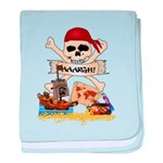 Pirate Day Icons baby blanket