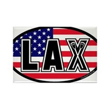 Lacrosse America Rectangle Magnet