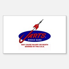 Jarts & Lawn Darts Rectangle Decal