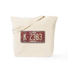Hawaiian Aloha LIcense Plate Tote Bag