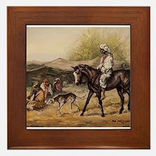 Bedouin Rider Framed Tile