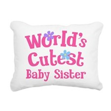 World's Cutest Baby Sister Rectangular Canvas Pill
