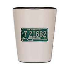 1974 Montana License Plate Shot Glass