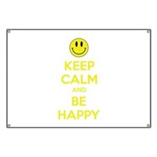 Keep Calm And Be Happy Banner