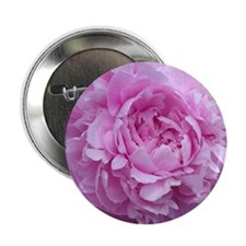 """Pink Peony Flower 2.25"""" Button"""