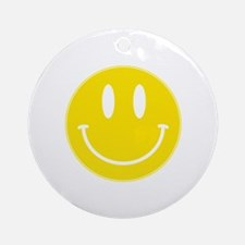 Keep Calm And Be Happy Ornament (Round)