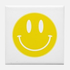 Keep Calm And Be Happy Tile Coaster