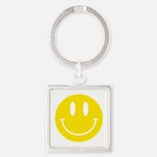Keep Calm And Be Happy Square Keychain