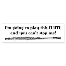 Play This Flute Bumper Bumper Sticker