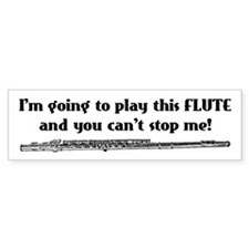 Play This Flute Bumper Car Sticker