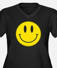 Keep Calm And Be Happy Women's Plus Size V-Neck Da