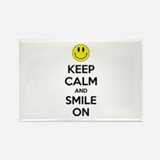 Keep Calm And Smile On Rectangle Magnet (100 pack)