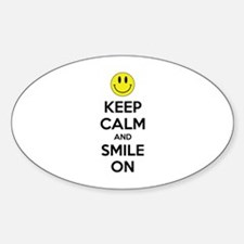Keep Calm And Smile On Decal