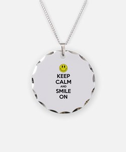 Keep Calm And Smile On Necklace