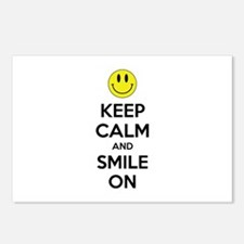 Keep Calm And Smile On Postcards (Package of 8)