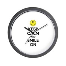 Keep Calm And Smile On Wall Clock