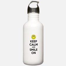 Keep Calm And Smile On Sports Water Bottle