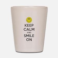 Keep Calm And Smile On Shot Glass