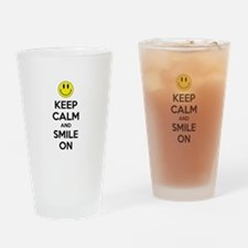 Keep Calm And Smile On Drinking Glass
