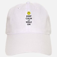 Keep Calm And Smile On Baseball Baseball Cap